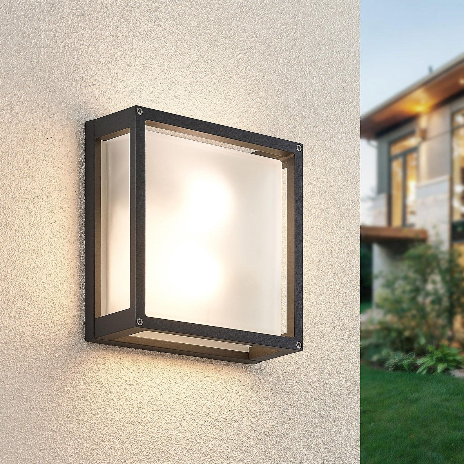 Lámpara de pared para exterior Aurelien cuadrada