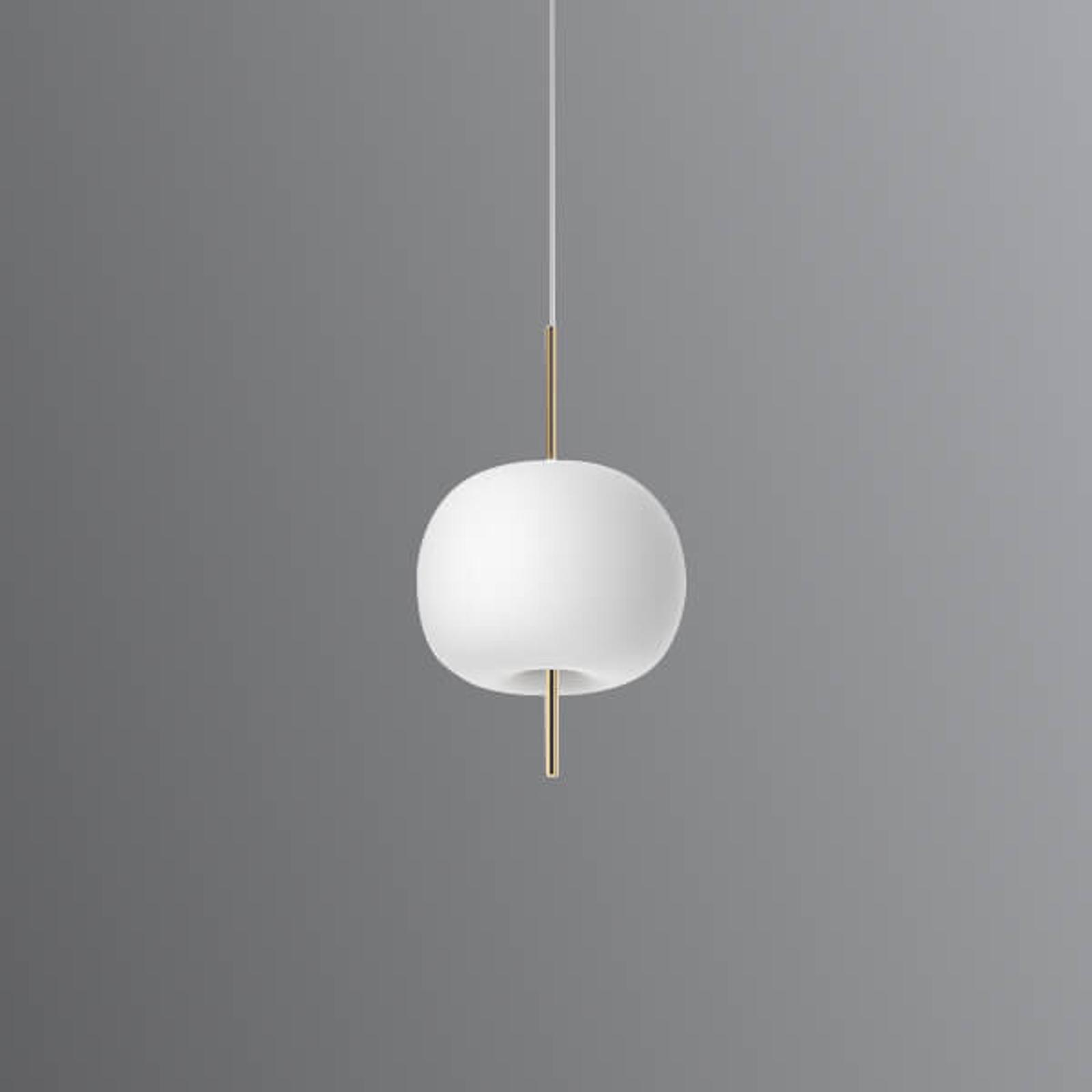 Lampada LED a sospensione di vetro Kushi, 16 cm