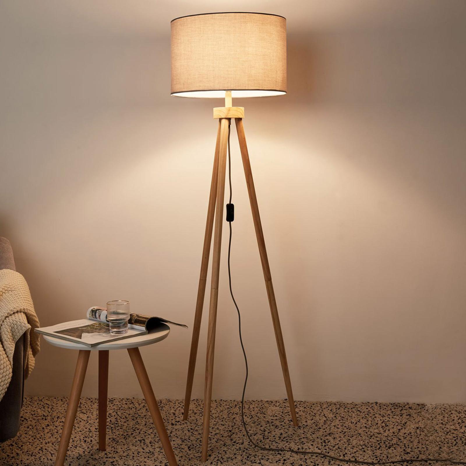 Pauleen Grand Coziness Stehlampe mit Holzgestell