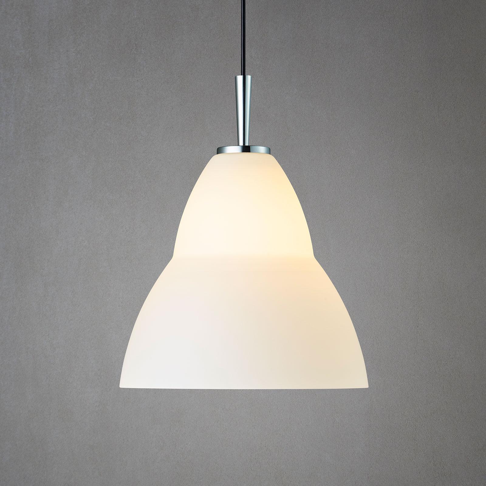 Szklana lampa wisząca Fico M, Ø 27 cm