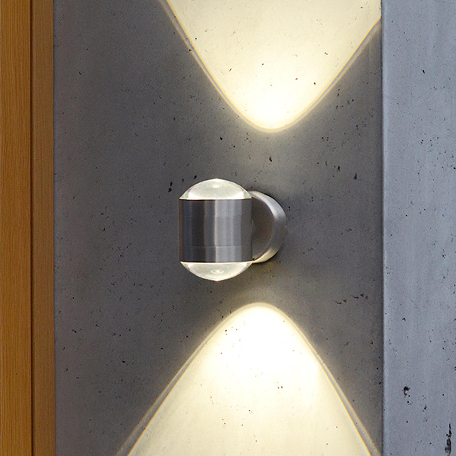 LED-Außenwandleuchte Crystal