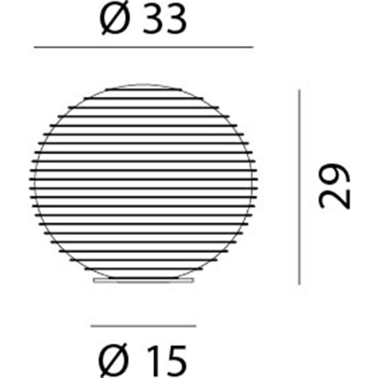 Rotaliana Flow Glass T4 Tischleuchte Ø 33 cm Kugel