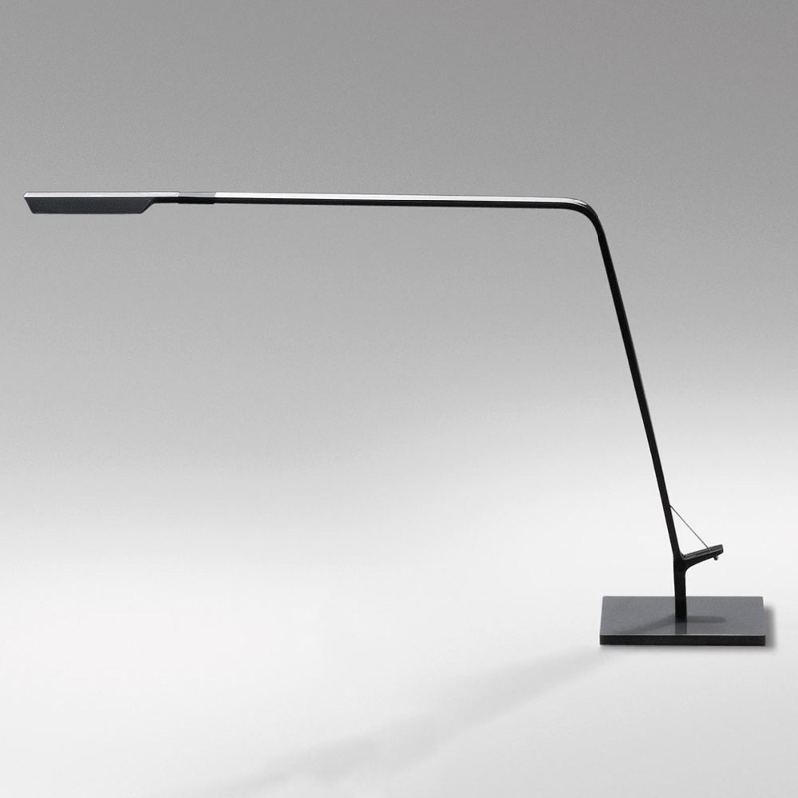 Lampe à poser LED Flex avec variateur, grise