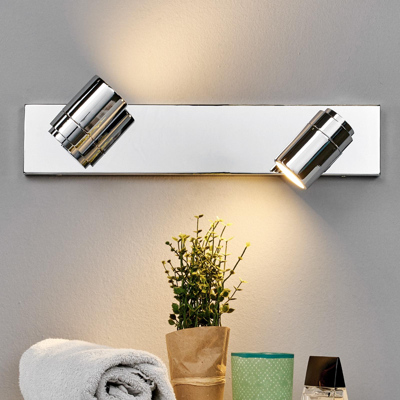 m. 2 lys Dejan - badeværelses væglampe i krom