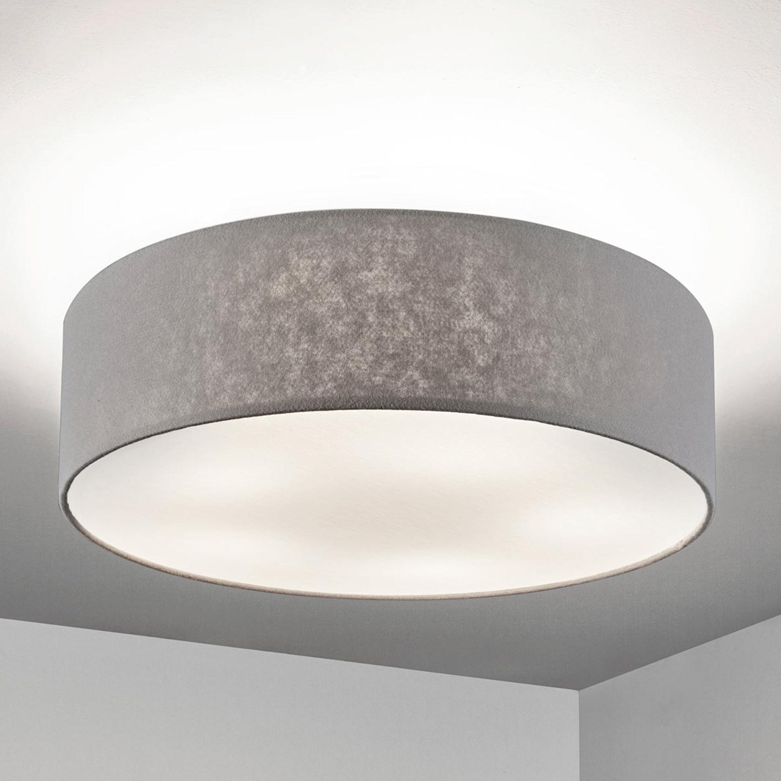 Plafondlamp Gala, 60cm, vilten kap grijs
