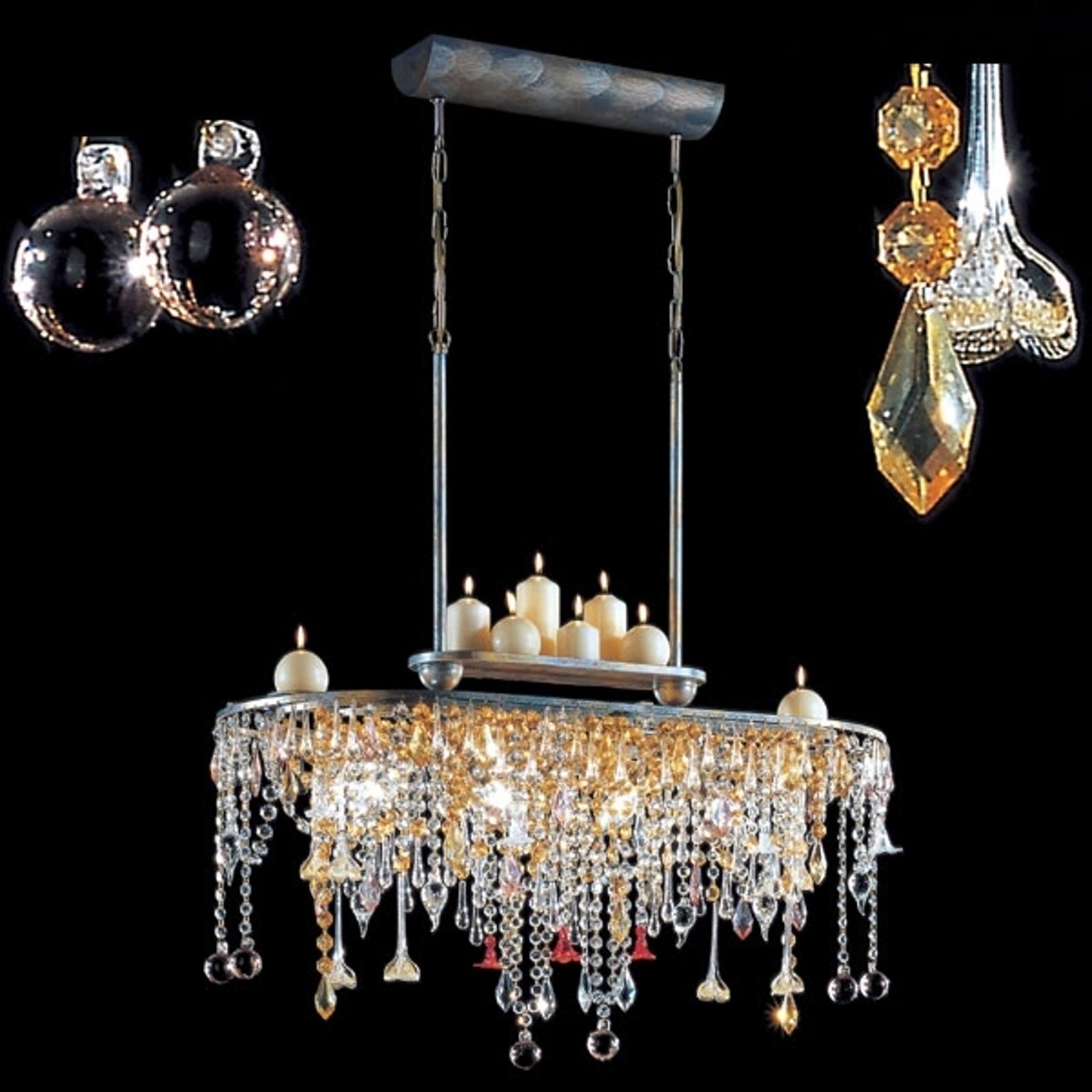 GOLDEN DREAM lampe med bjælkeform og kertelys