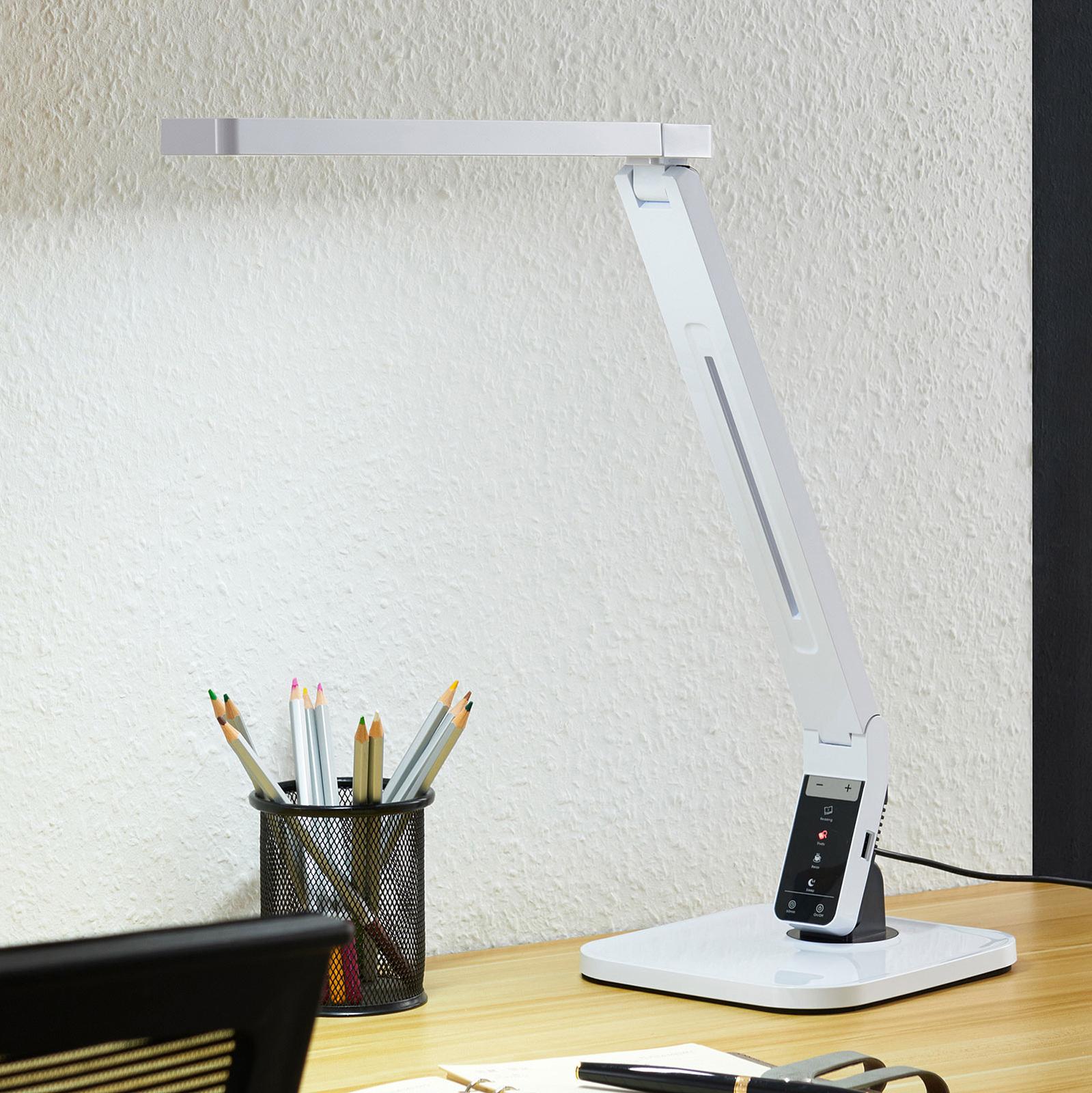 Arcchio Liano LED bureaulamp, wit