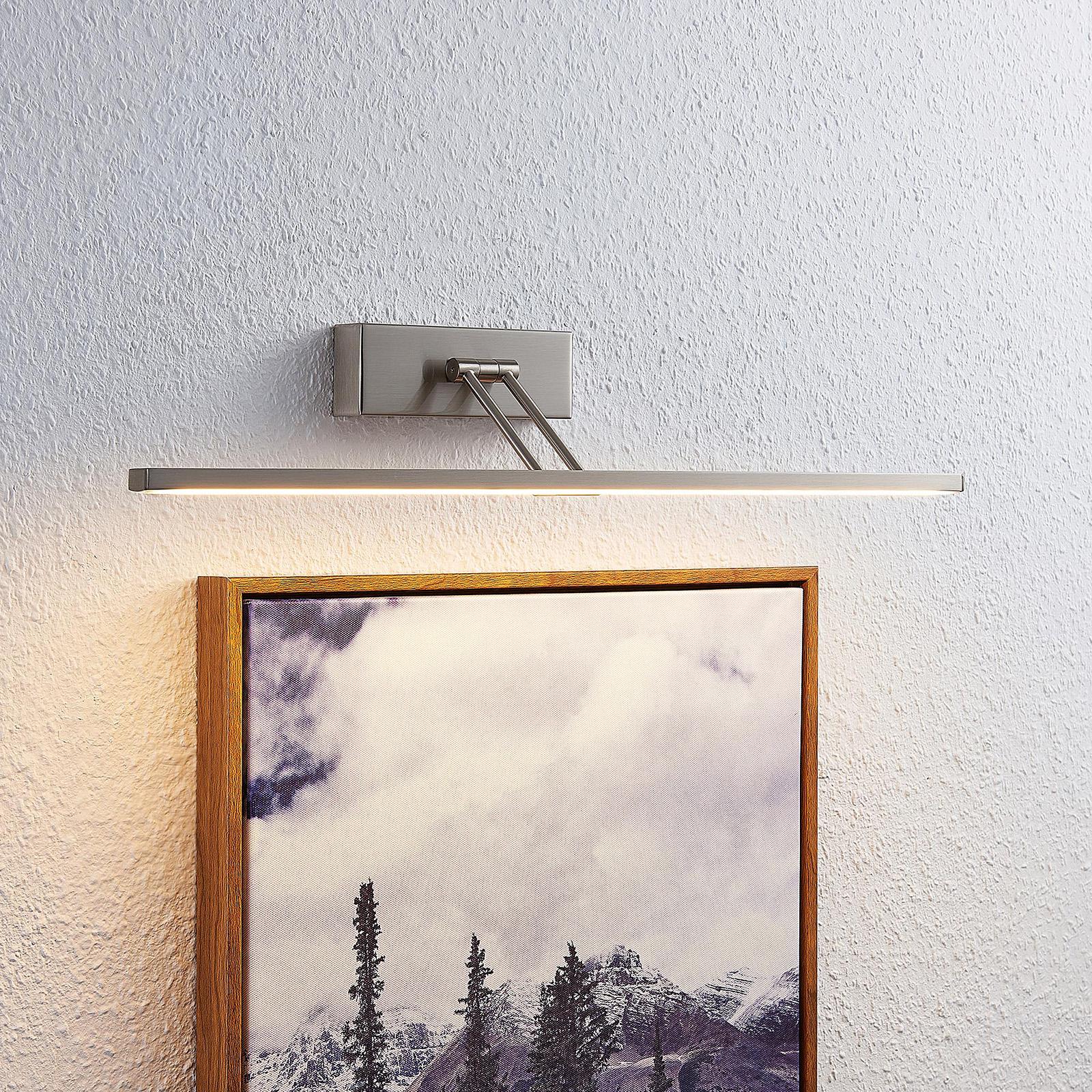 Lucande Thibaud LED-tavelbelysning, nickel 51,4 cm