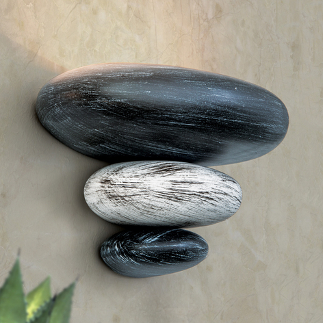 Imitation pierre: l'applique LITICA gris