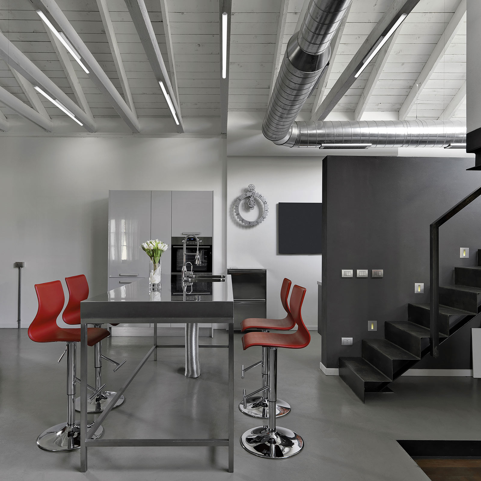 LED-Deckenleuchte Sami Soffito, Länge 200 cm