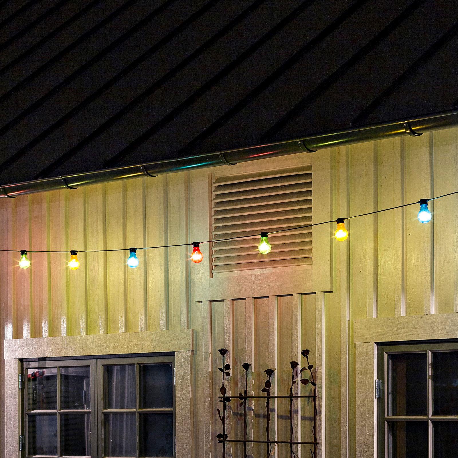 Lyslenke Biergarten 20 fargerike LED-pærer