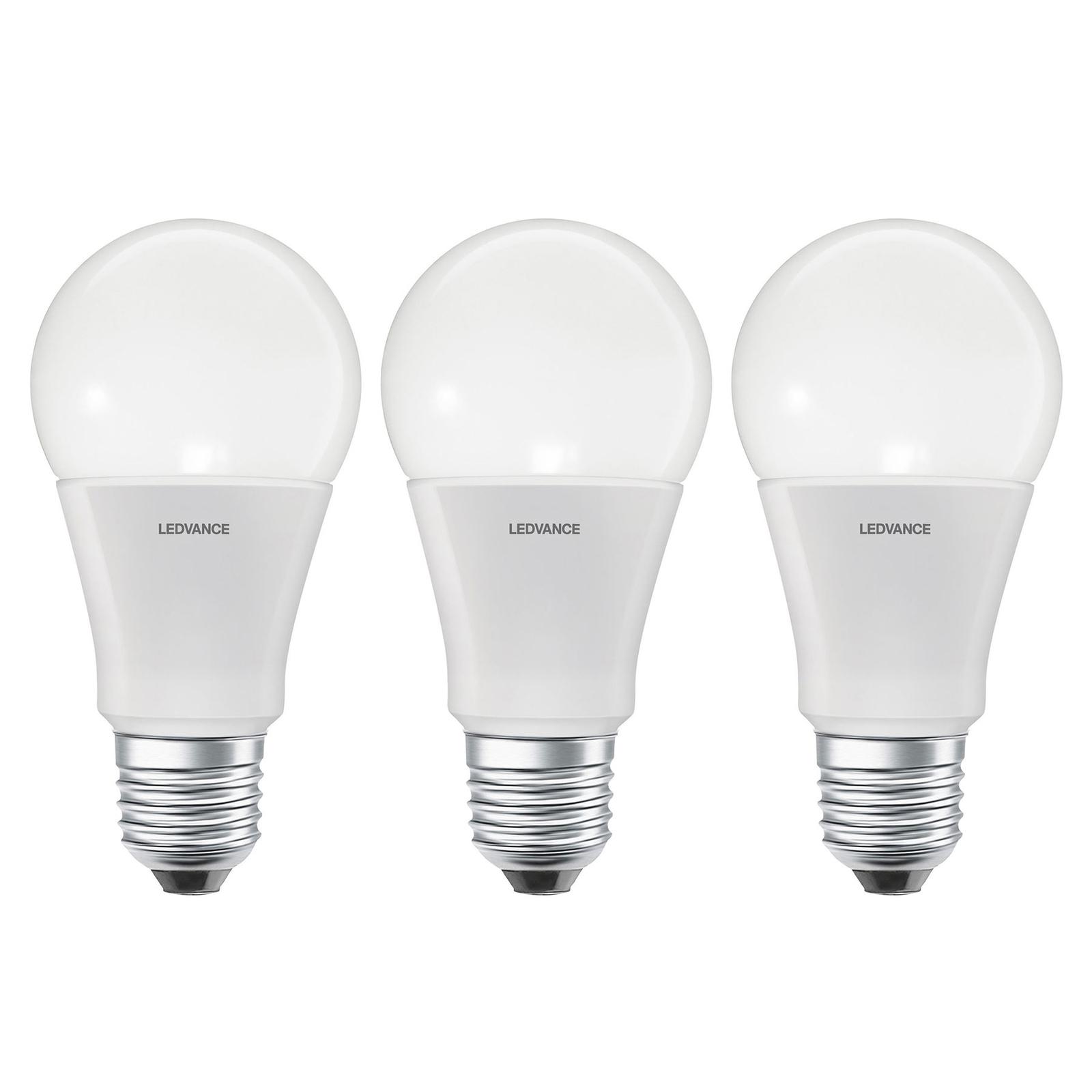 LEDVANCE SMART+ WiFi E27 9,5W Classic 2.700 K 3er