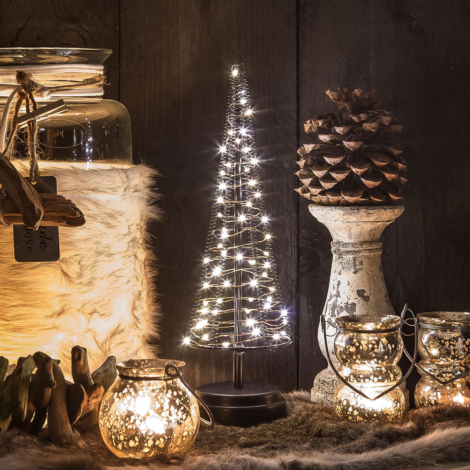 Tre Santa`s Tree, ledning kobber, høyde 33,5 cm