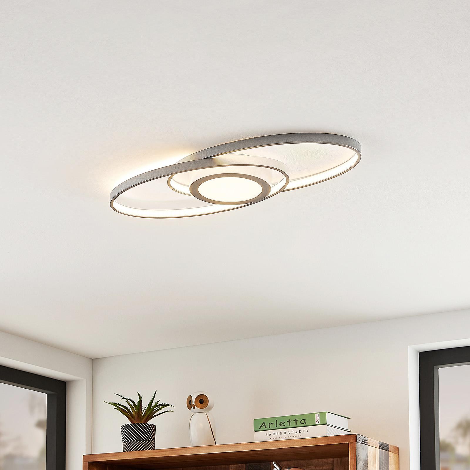 Lindby Charlok LED stropní světlo, stmívatelné