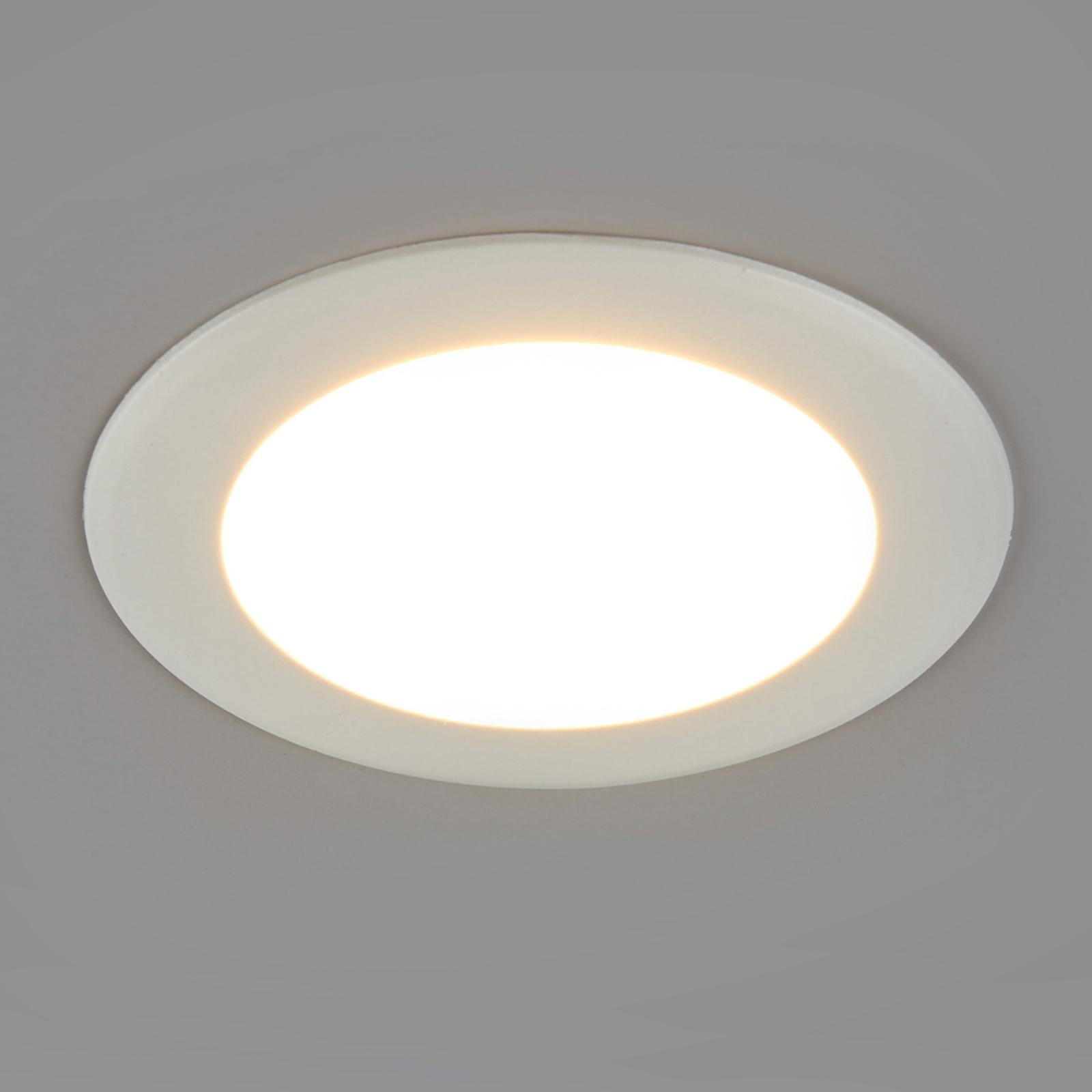 Rund LED-indbygningslampe Arian, 9,2 cm 6W