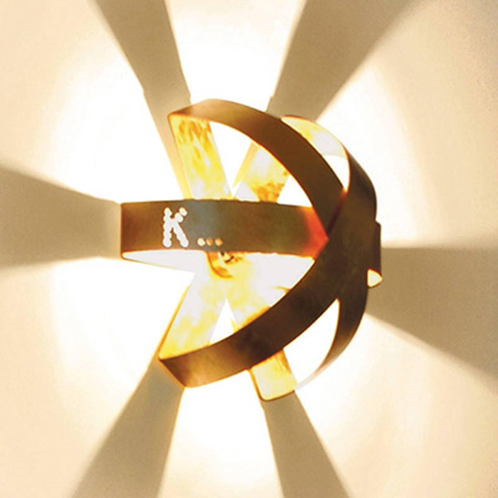 Knikerboker Ecliptika - Wandleuchte 40cm vergoldet