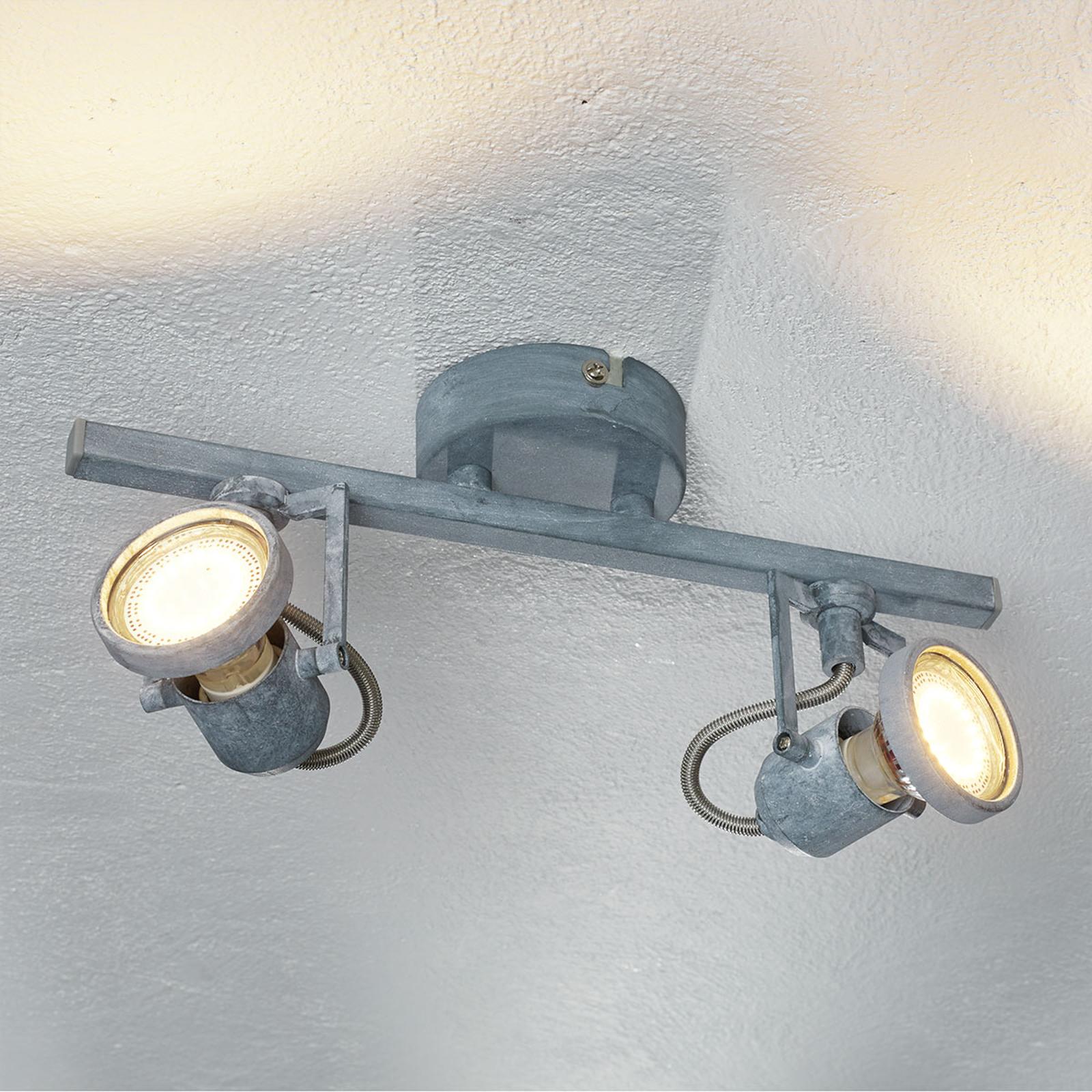 2-punktowa lampa sufitowa LED Concreto