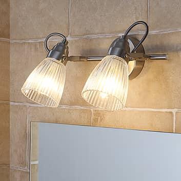 Kara - badrumsvägglampa med räfflat glas och LED