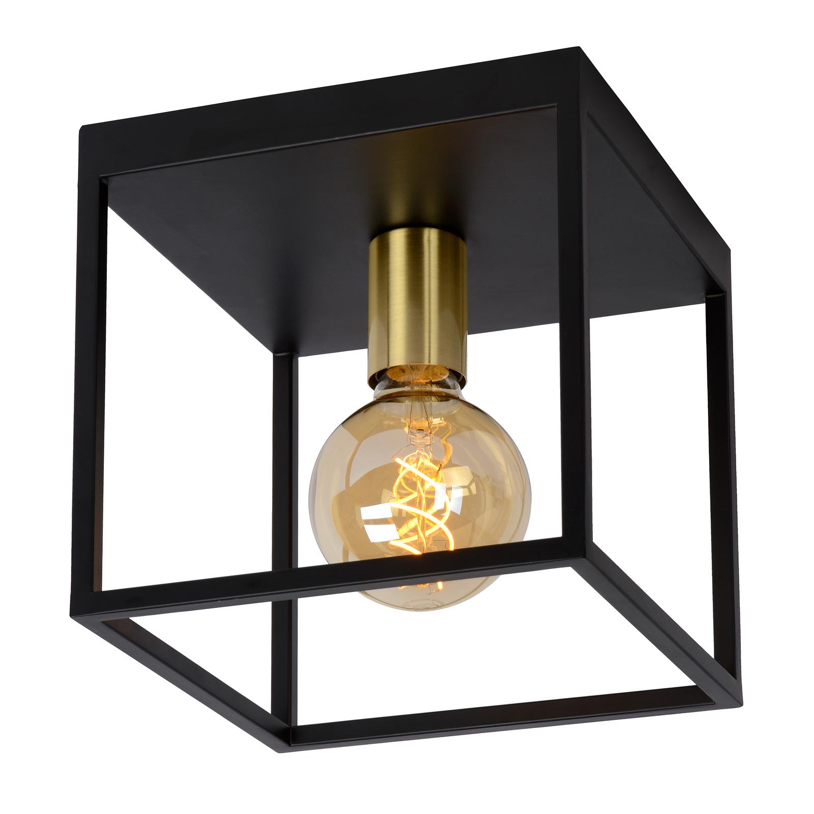Lampa sufitowa Rube, czarna