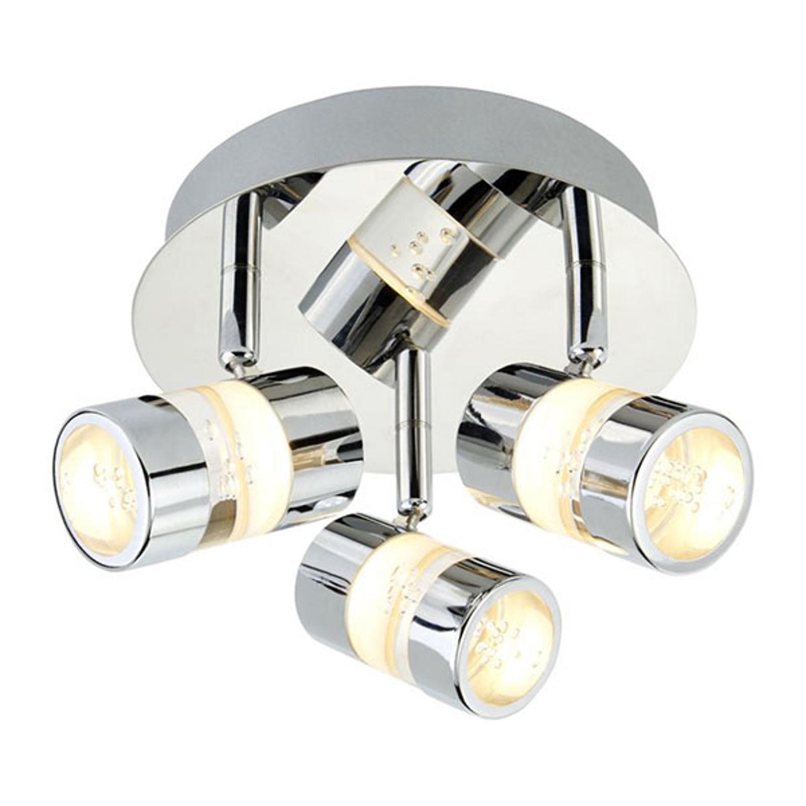 Acquista Plafoniera LED rotonda Bubbles, IP44, 3 luci
