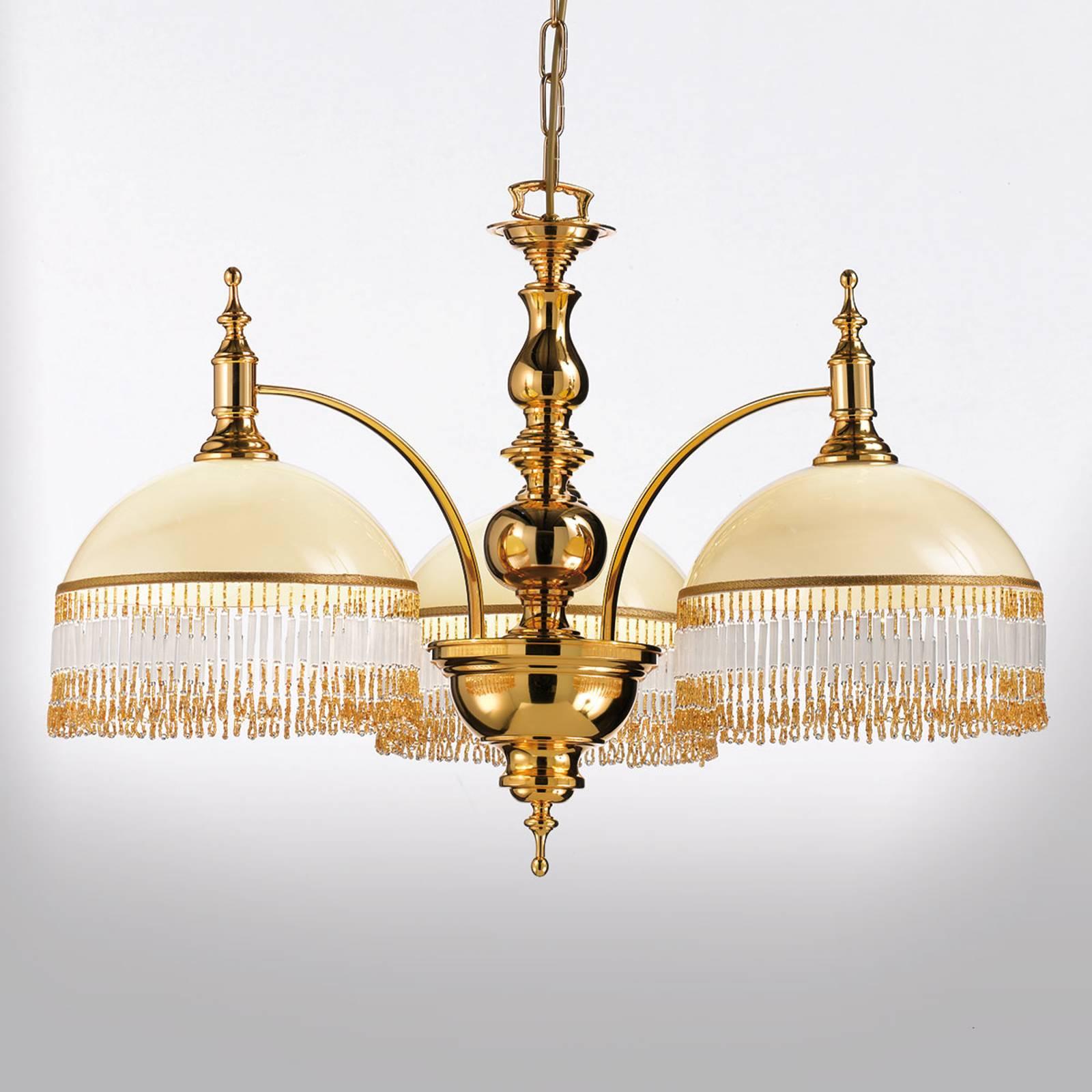 Elegancka lampa wisząca Corola z ozdobami