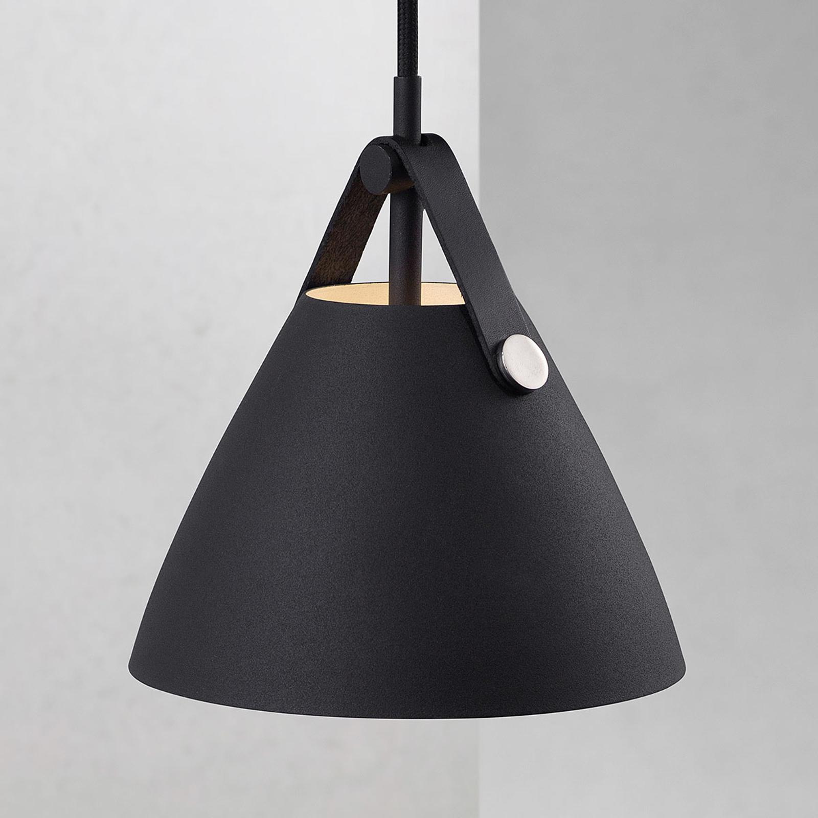 Závěsné světlo Strap, Ø 16,5 cm, černé