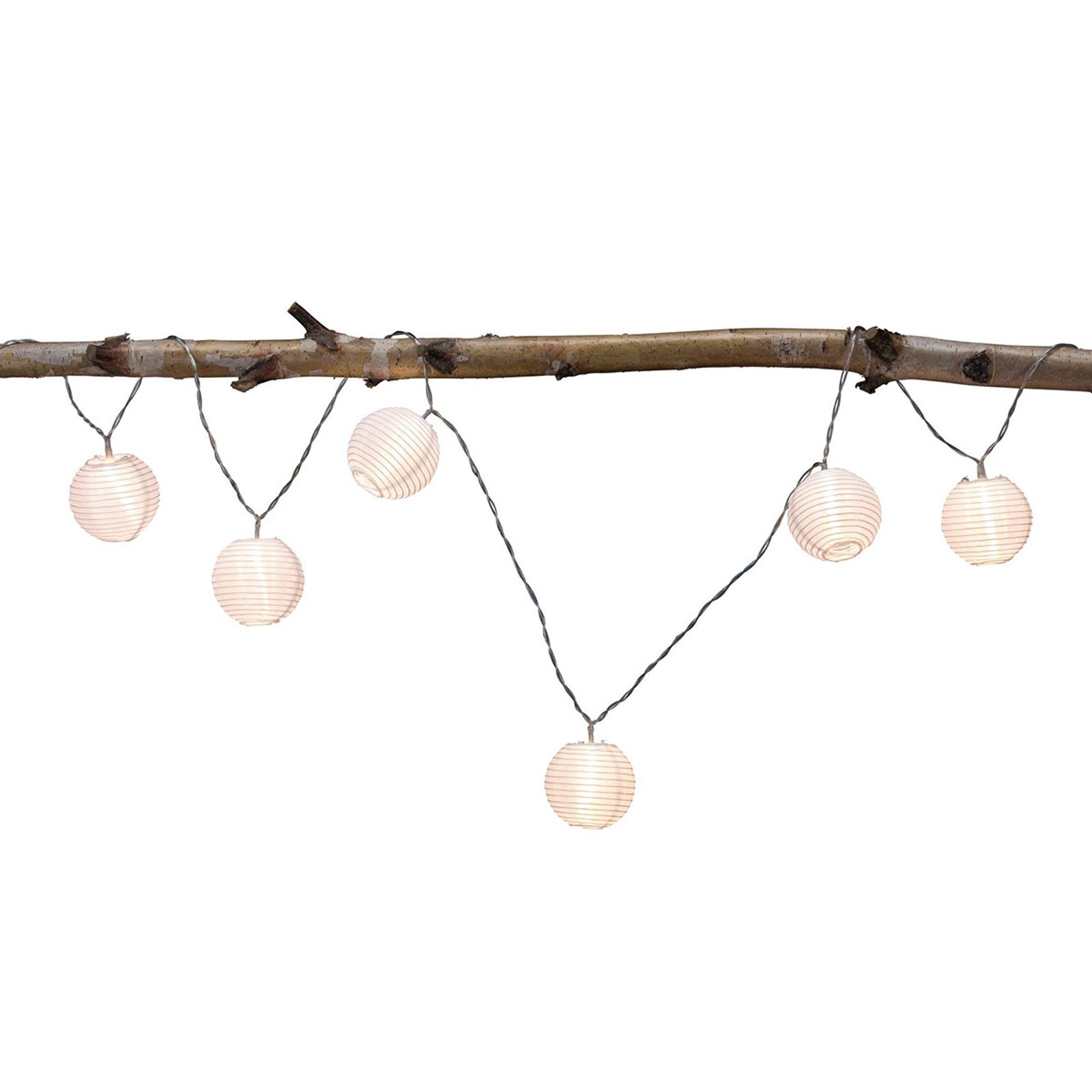 Paulmann mo Lampion lichtket 7 lampjes wit