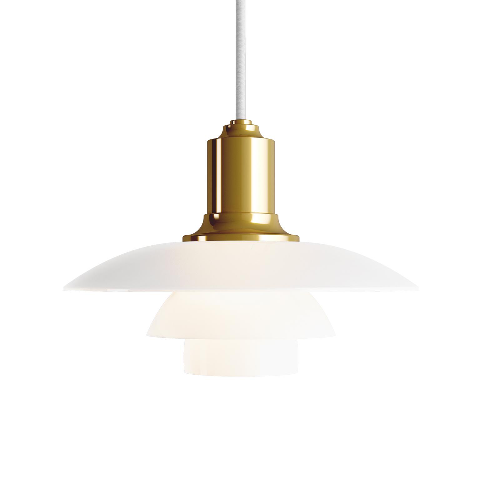 Louis Poulsen PH 2/1 glashængelampe messing