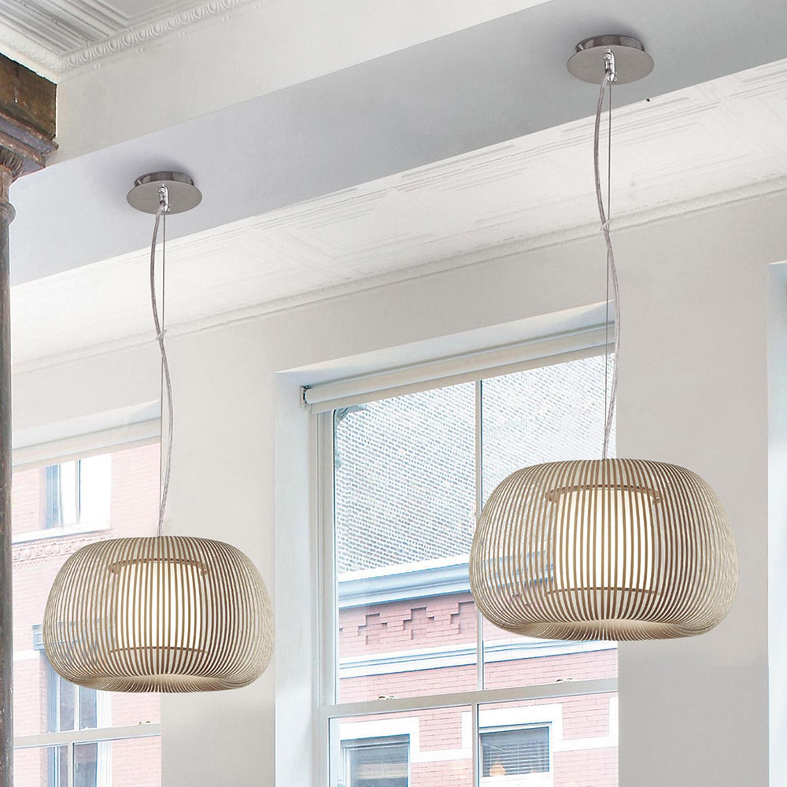 Hanglamp Mirta, steengrijs, Ø 45 cm