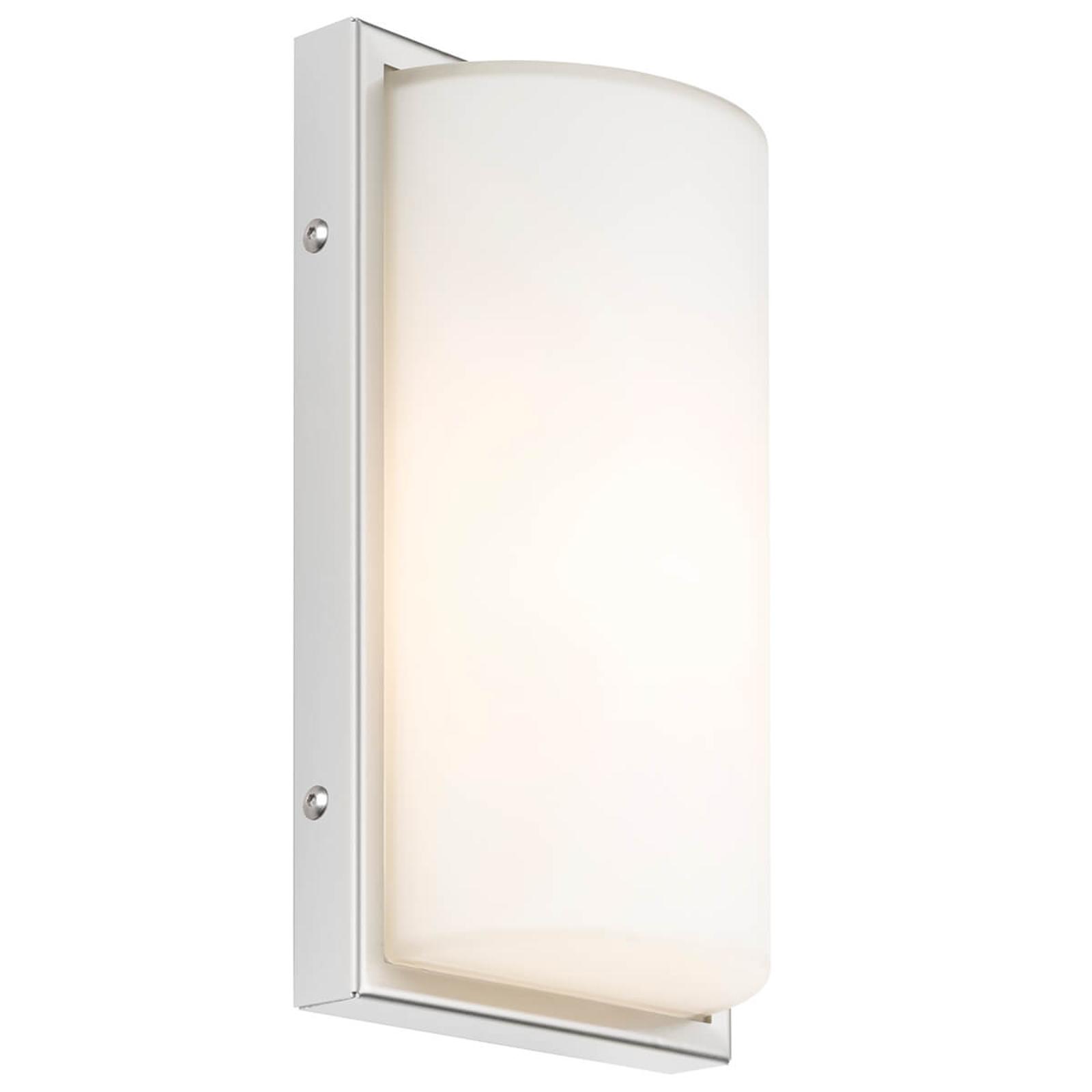040 utendørs LED-vegglampe med sensor, hvit