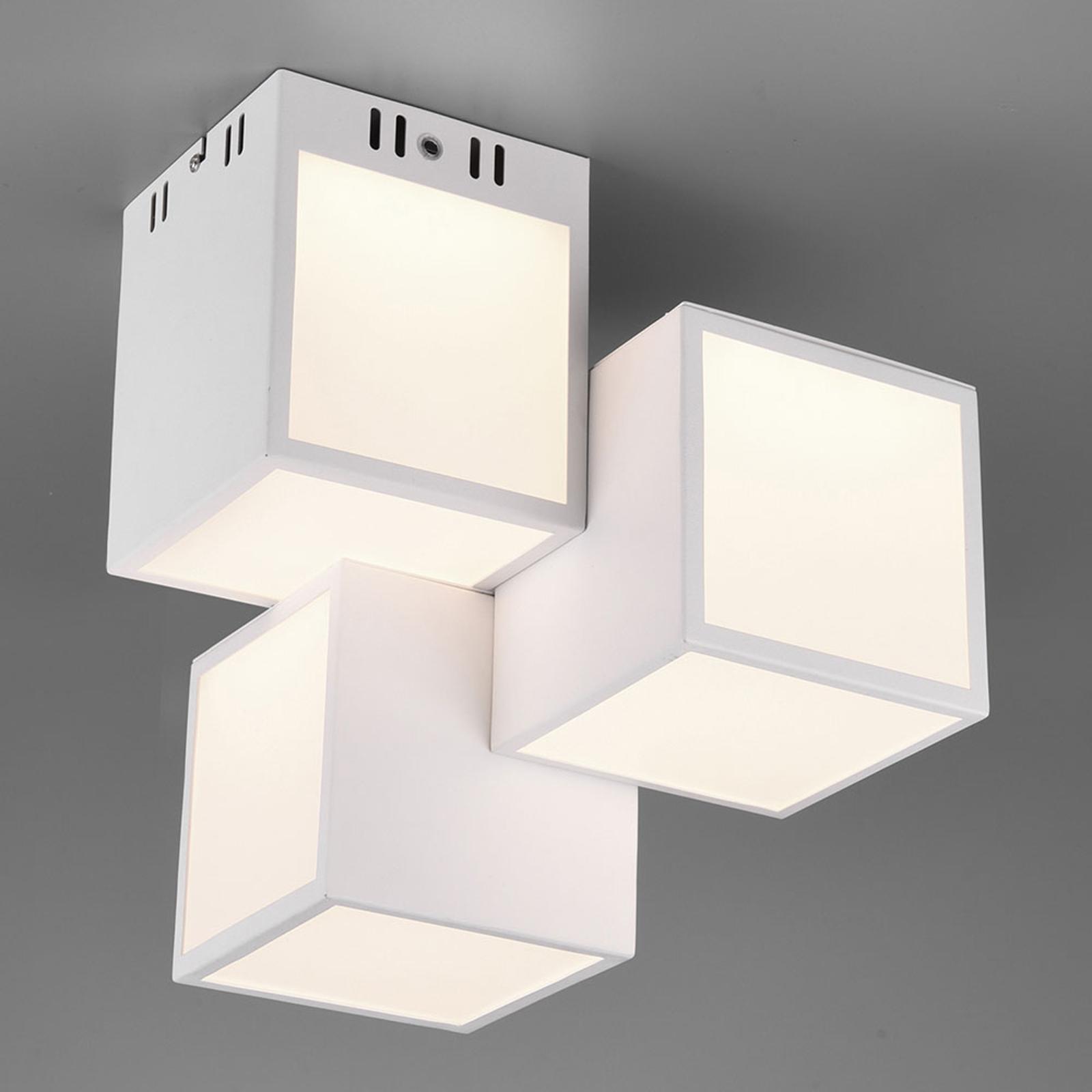 Trio WiZ Oscar LED-taklampa 30 x 30 cm, vit