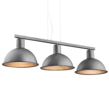 Lámpara colgante Amaro, 3 luces, antracita