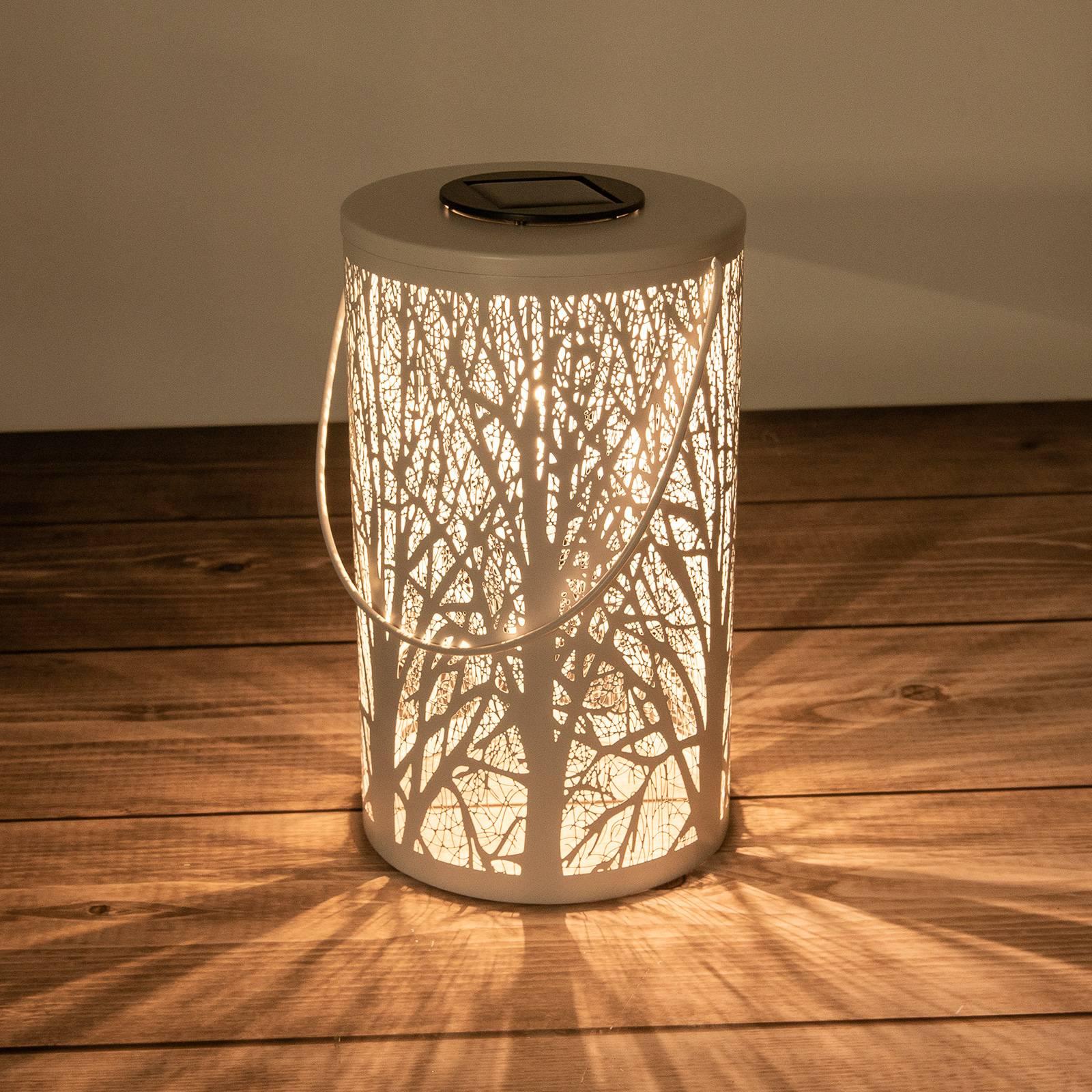 Lanterna solare LED 5266523 con motivo bosco