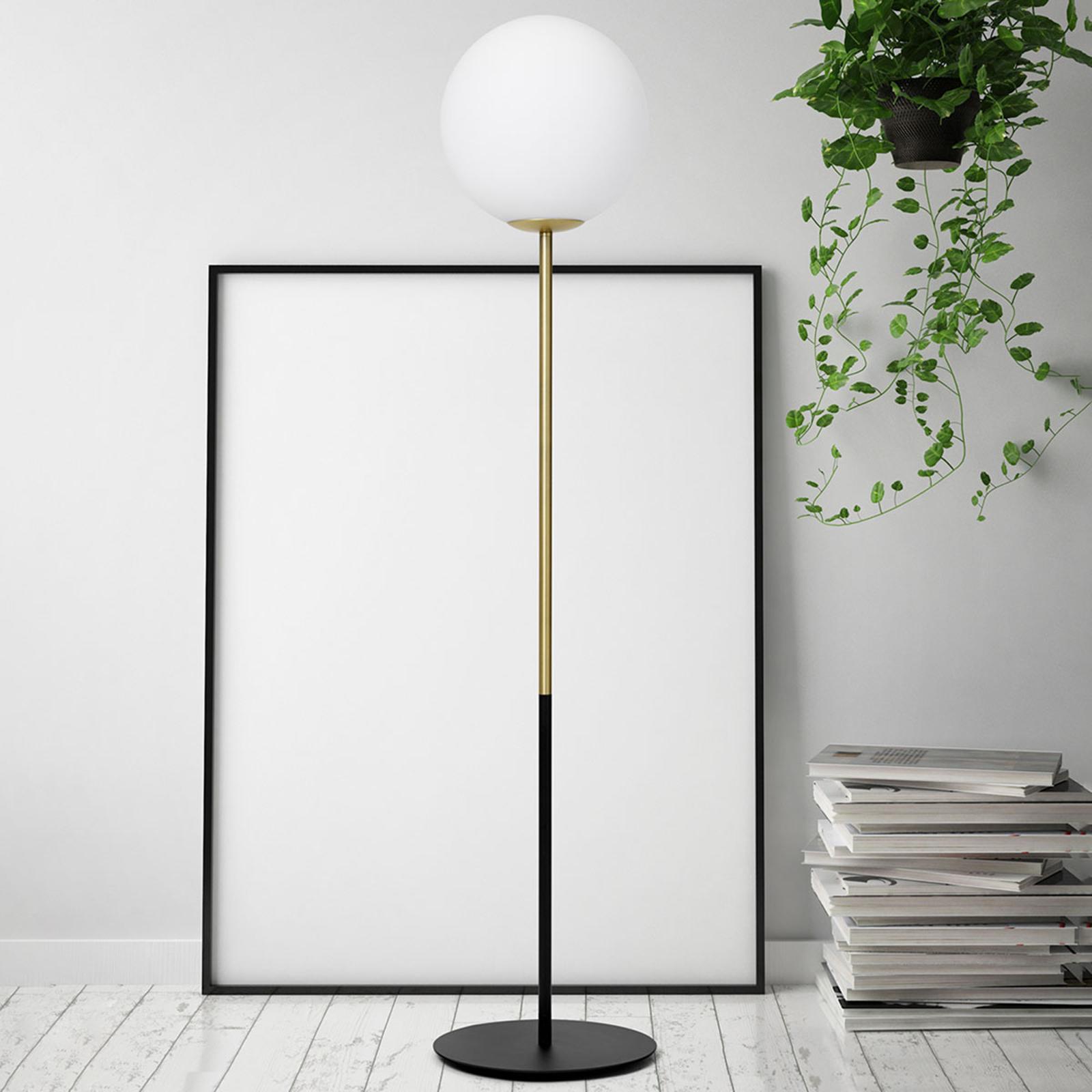 Messing-vloerlamp Jugen 1-lamp