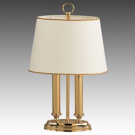 Lampada da tavolo esclusiva Qeen mini, ottone