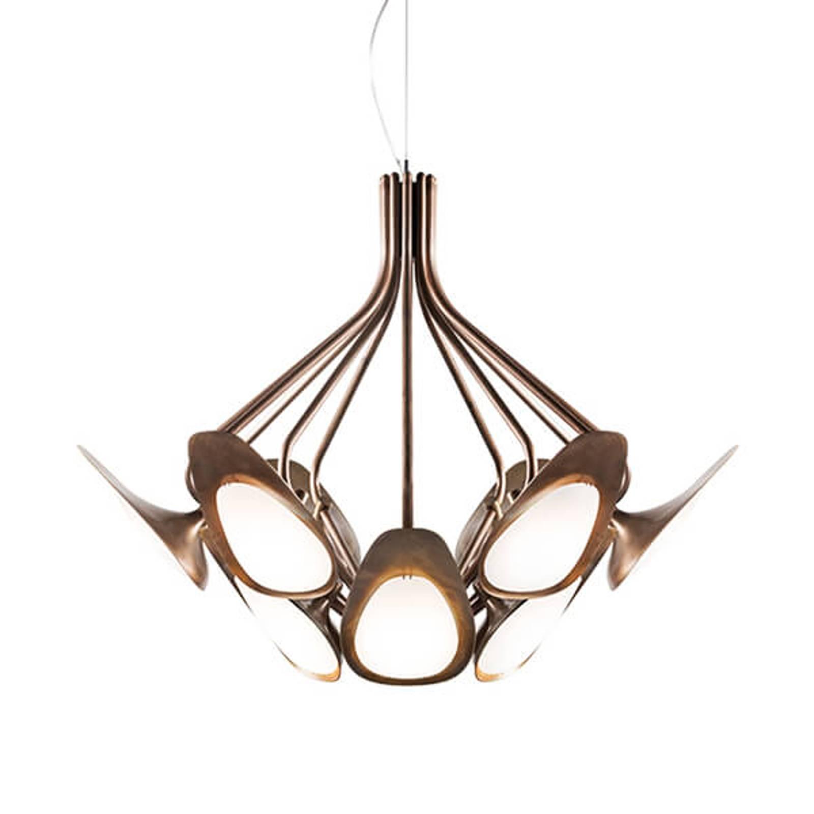 Suspension LED aspect bronze Peacock