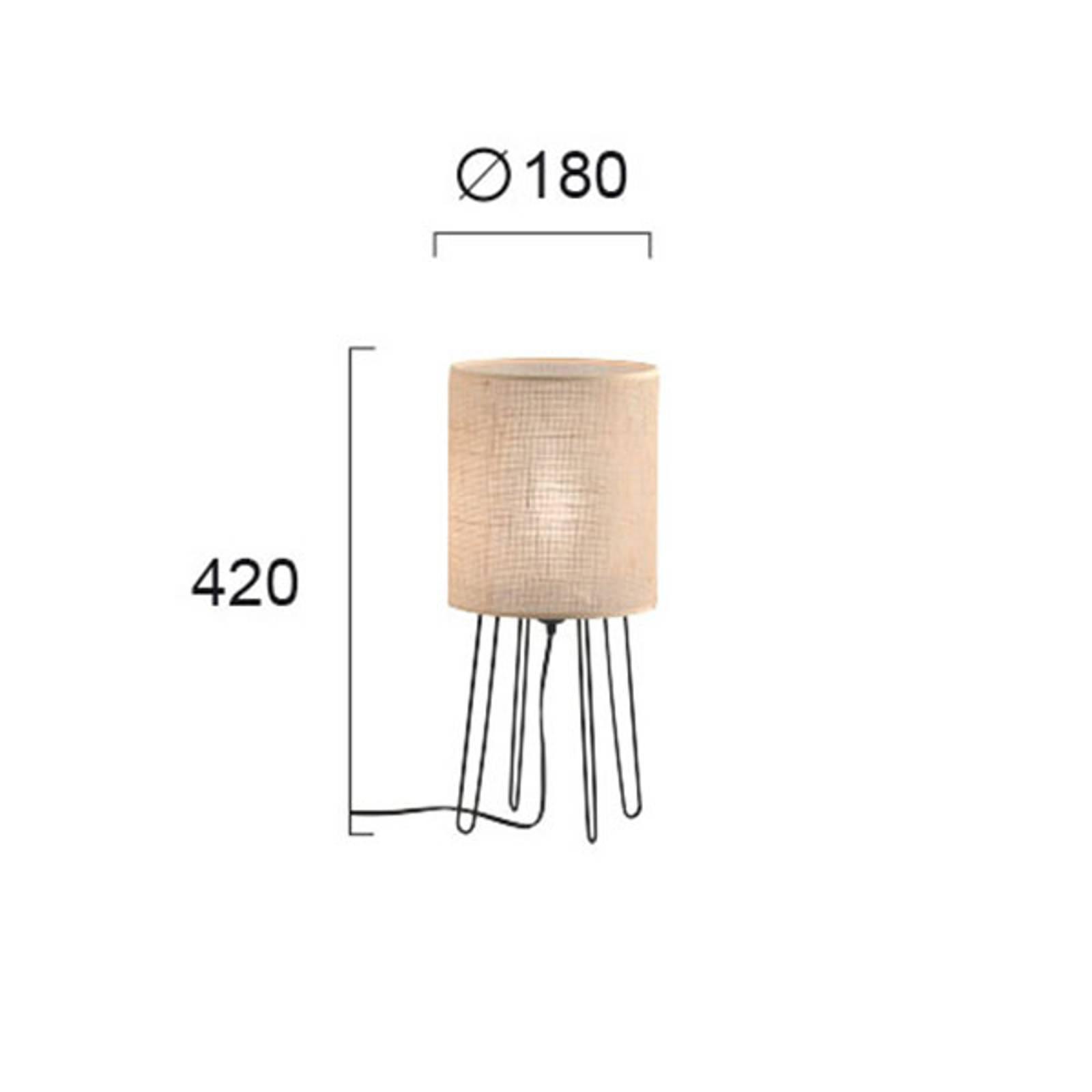 Tischleuchte Senso mit Textilschirm