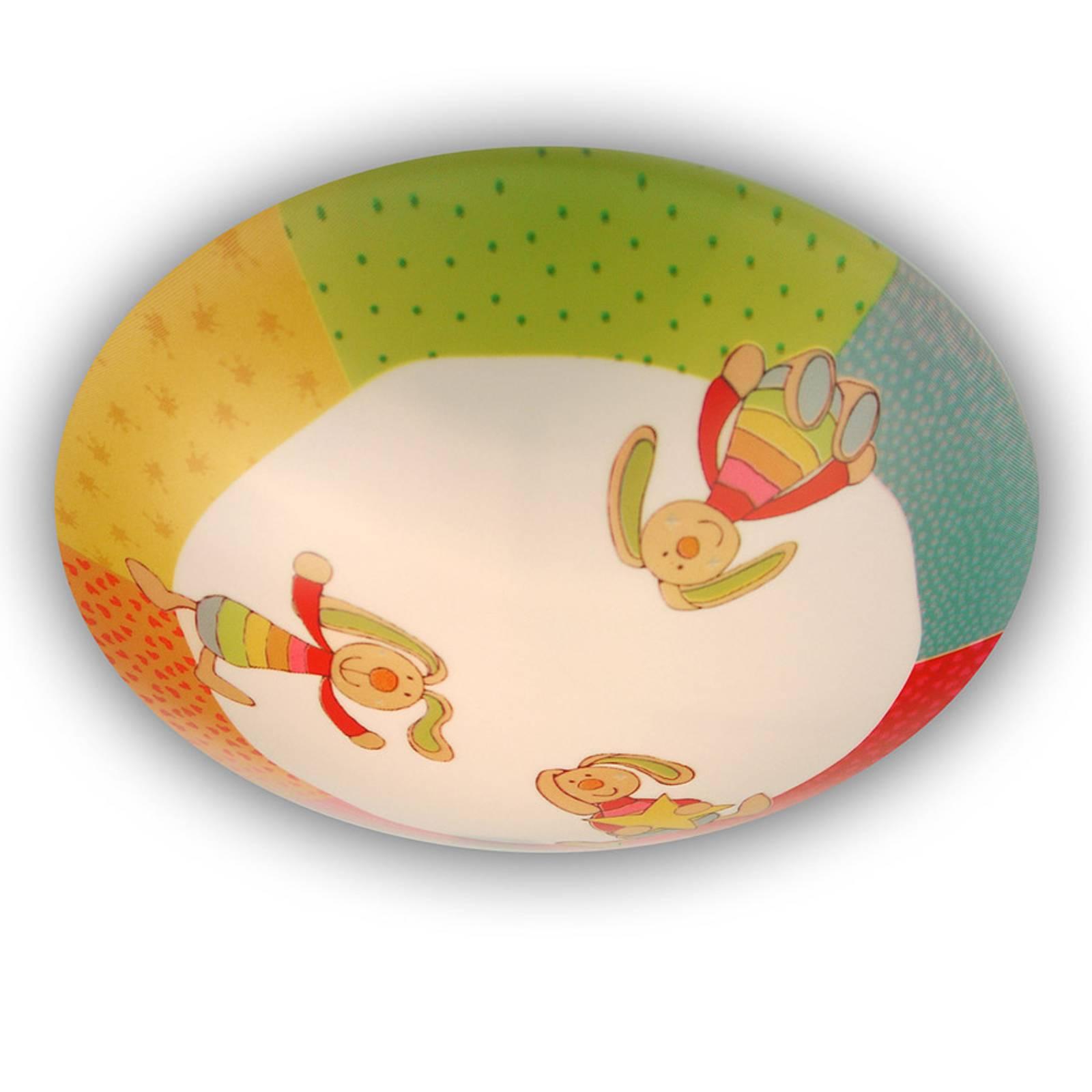 Rainbow Rabbit - ronde kinderkamer plafondlamp