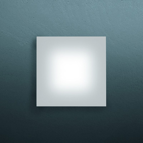 Superplatt LED-vägglampa SOLE, 12 cm
