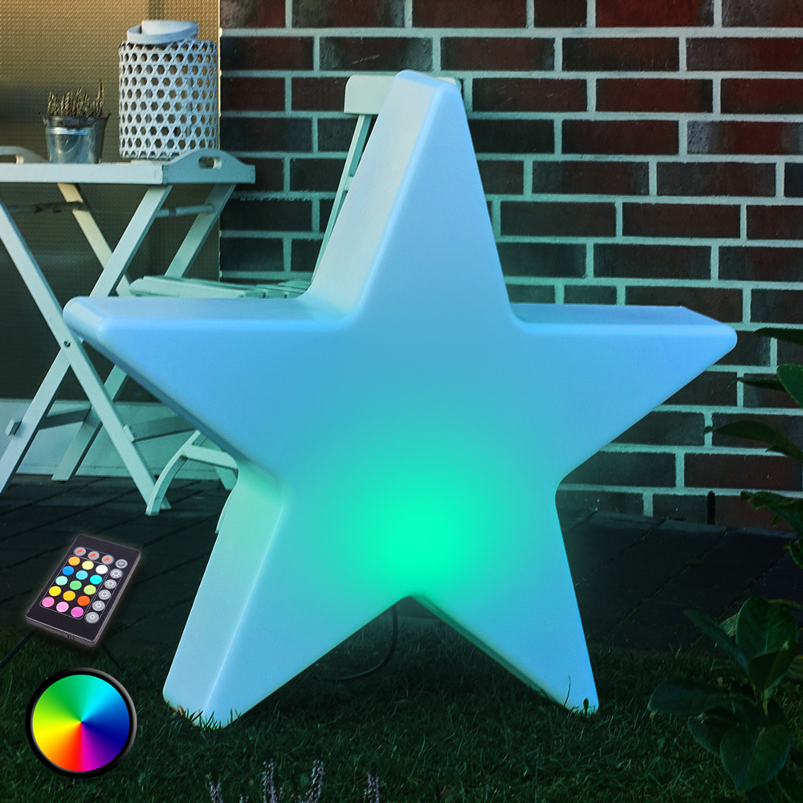 Stella LED decorativa Shining Star, 60 cm
