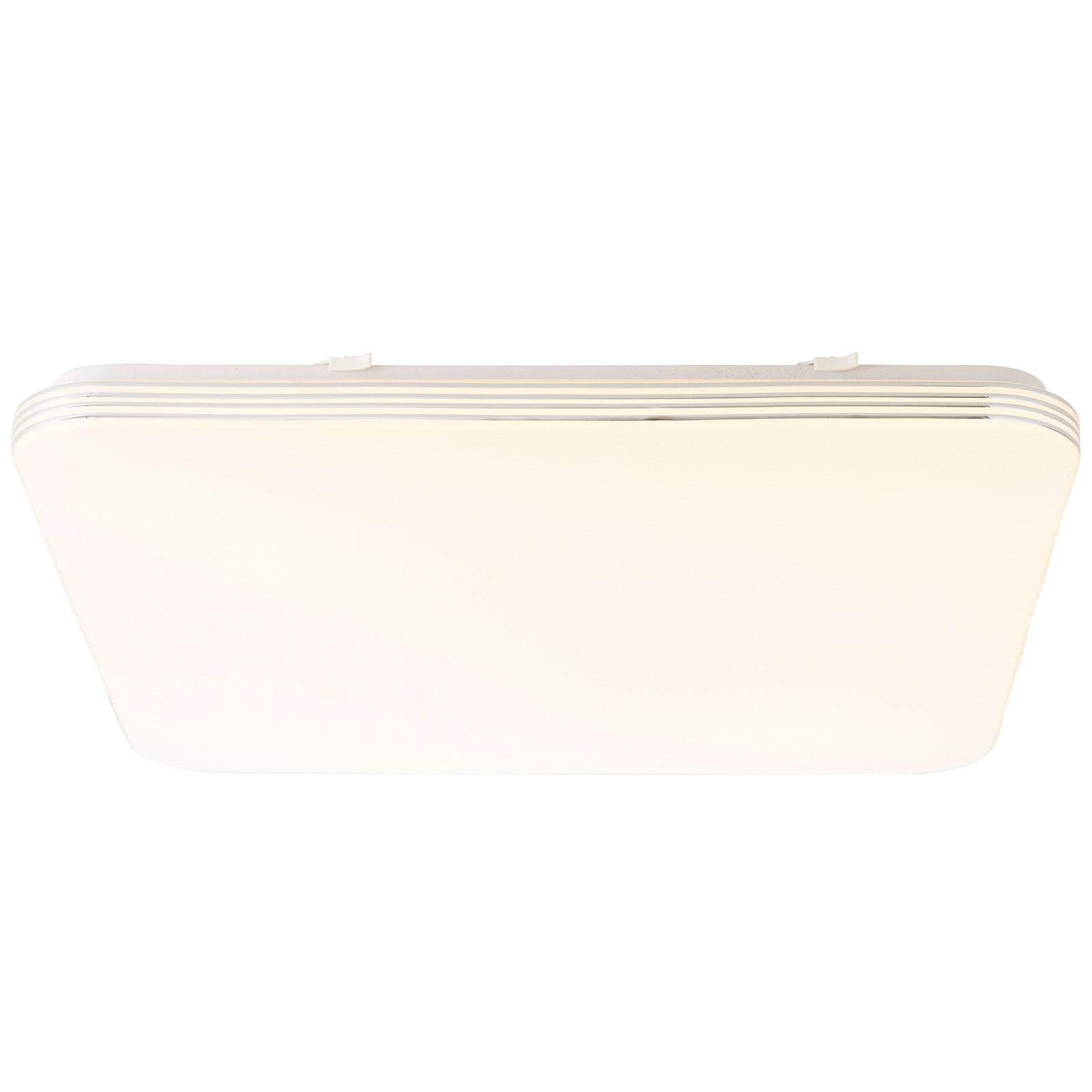LED-taklampa Ariella i vitt/krom, 54 x 54 cm