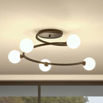 Lucande Chenoa lámpara de techo en forma espiral