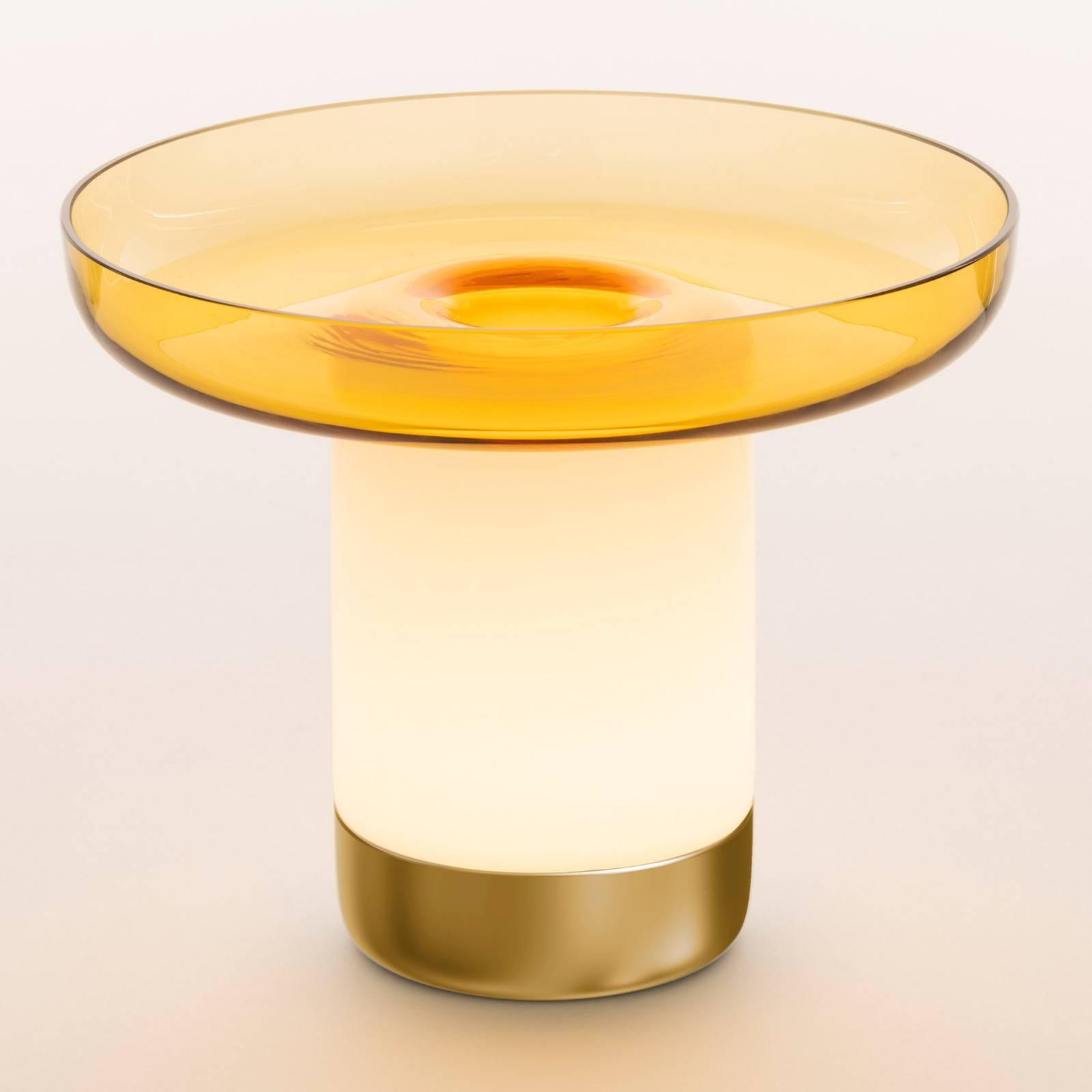 Artemide Bontà LED-Tischleuchte, gelbe Schale