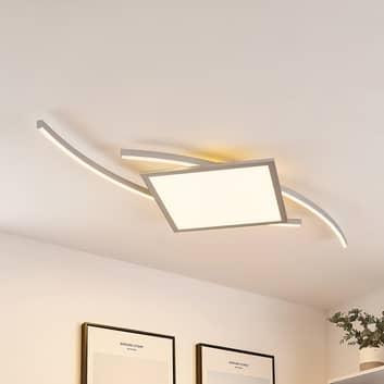 Lucande Tiaro LED-taklampa, kantig, 56,6 cm, CCT
