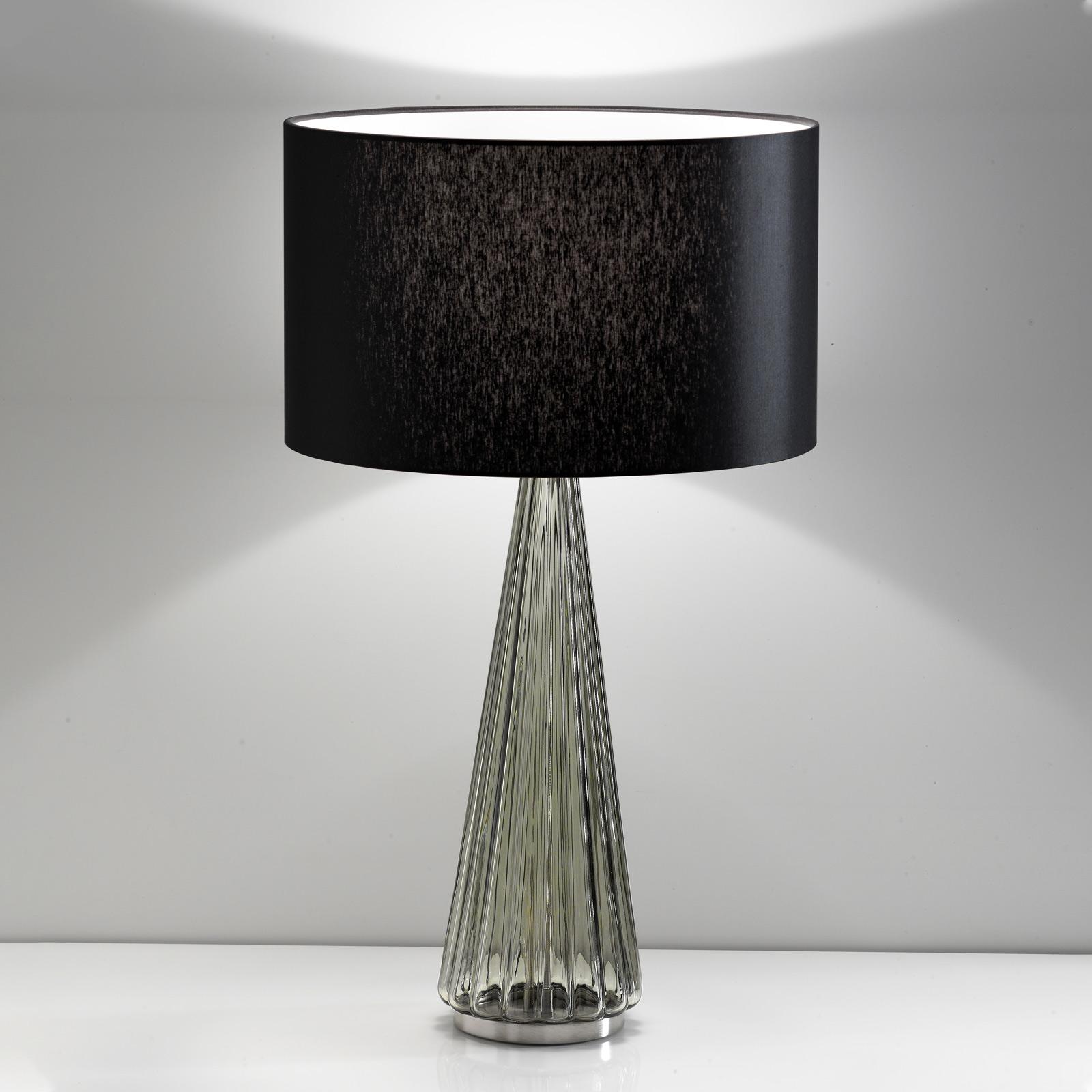 Tafellamp Costa Rica kap zwart, voet grijs