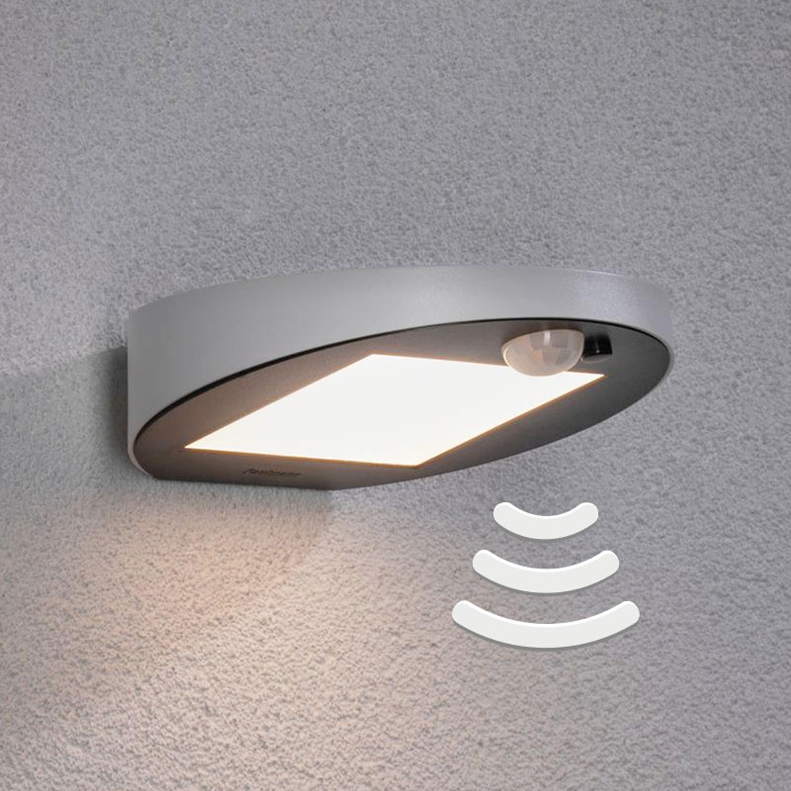 Paulmann LED-væglampe med solcelle Ryse, hvid