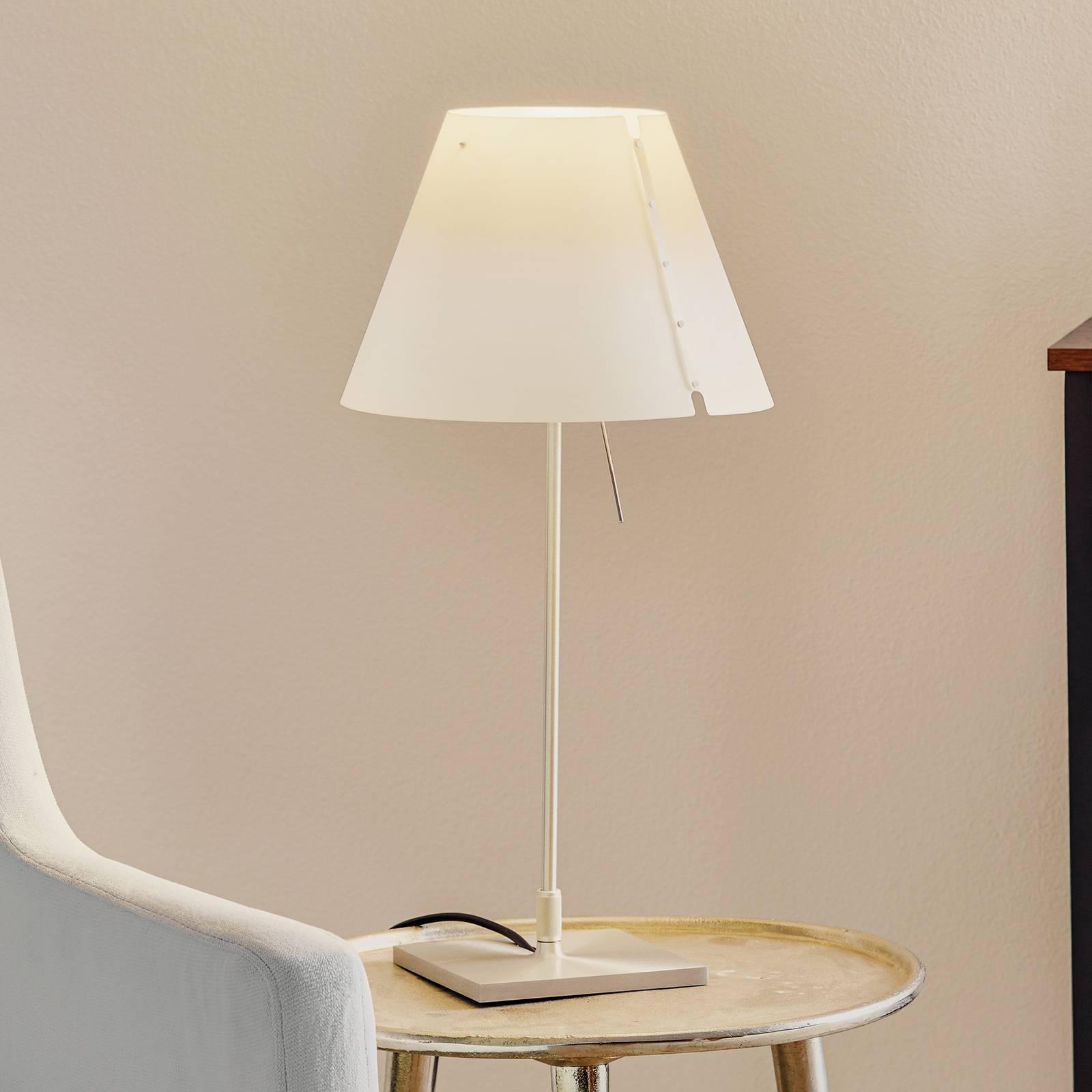 Luceplan Costanzina LED tafellamp alu wit