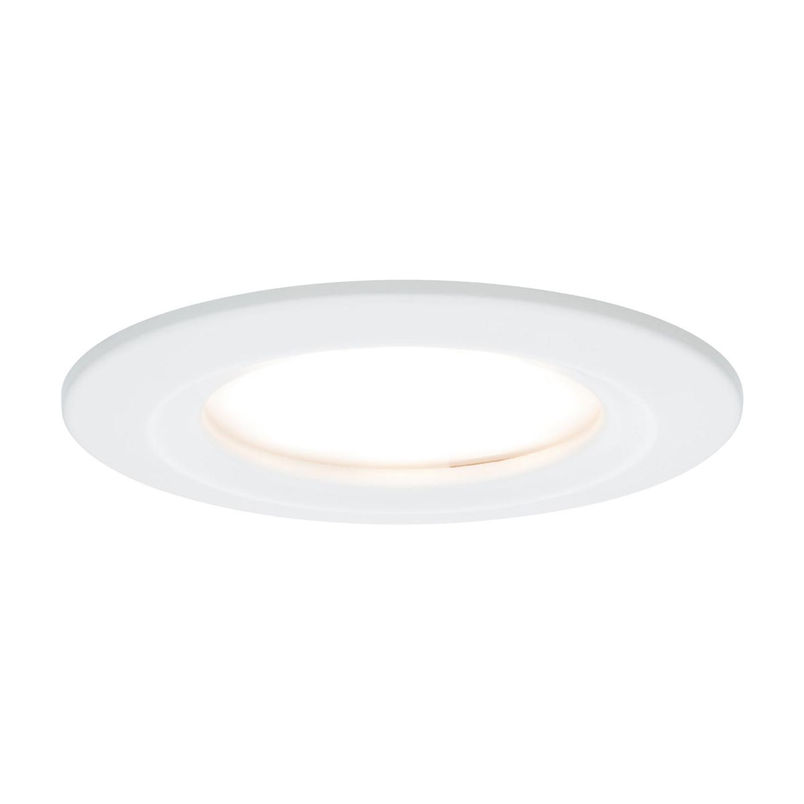 Paulmann LED-spot Nova Coin rund, dimbar, vit