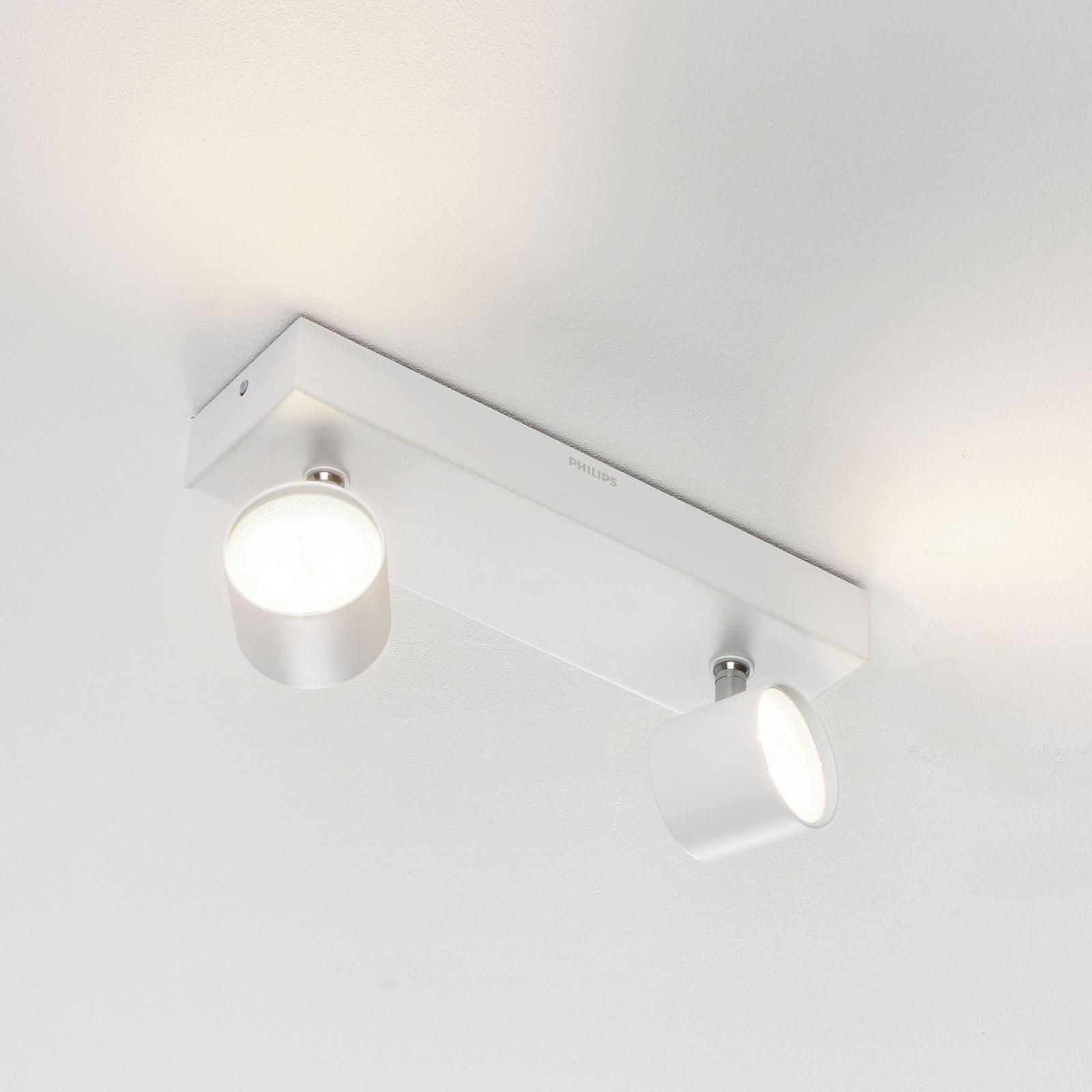 Star - doppio spot LED Warmglow, bianco