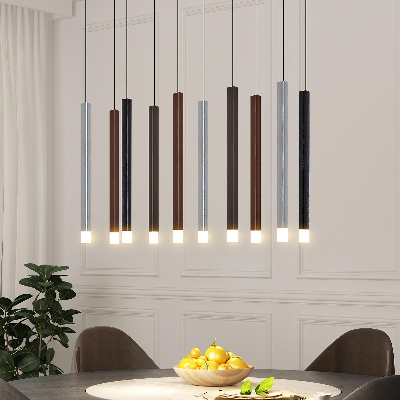 Lucande Stoika LED-pendellampe, 10 lyskilder